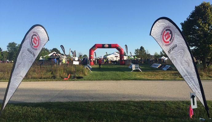 View from the starting line of The North Face Endurance Challenge Wisconsin.
