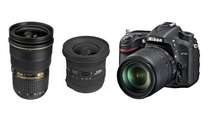 An image of a Nikon D7100 and two more lenses