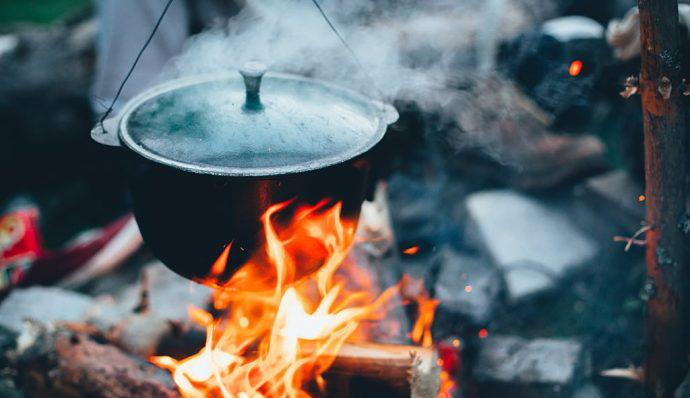 camp meals over fire