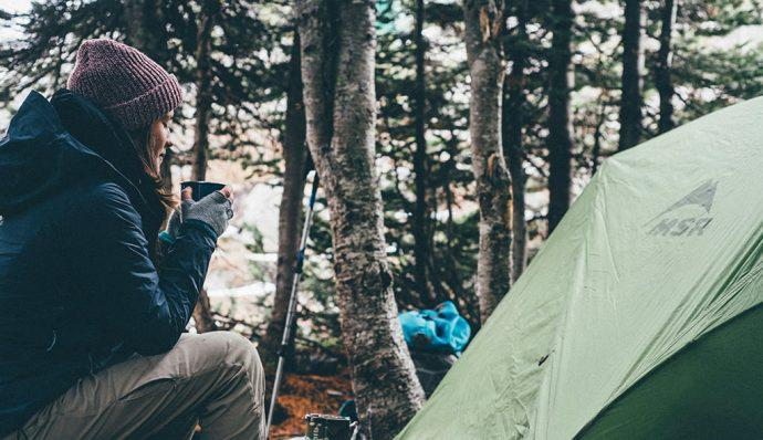 tips for camping alone