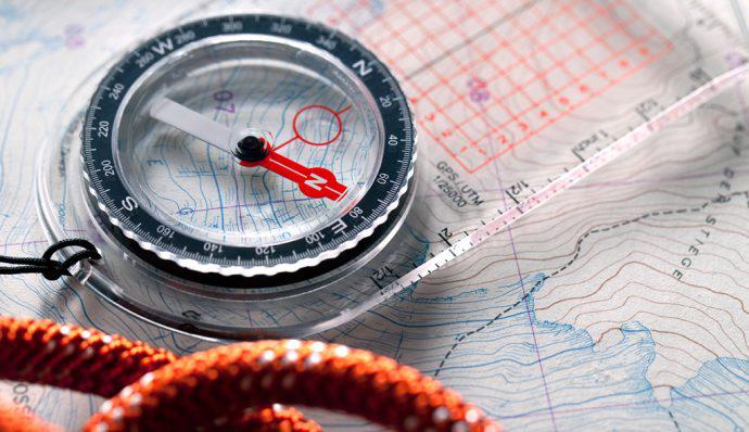 how to use a compass with a map